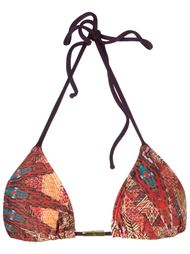 abstract print triangle bikini top Lygia & Nanny