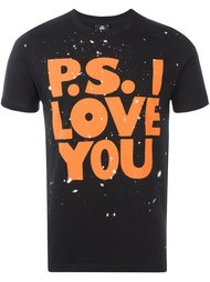 футболка 'P.S. I Love You'  Paul Smith London