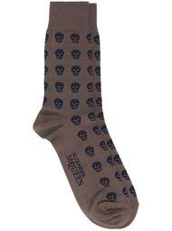 носки вязки интарсия с черепами Alexander McQueen