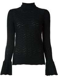 textured roll neck jumper Co