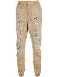 зауженные брюки с принтом брызг краски Prps