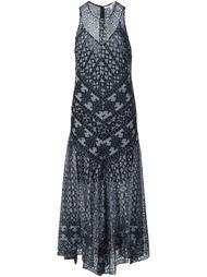 свободное платье с вышивкой Veronica Beard