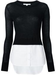 джемпер с подолом от рубашки Veronica Beard