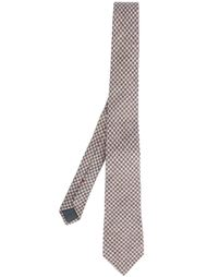 галстук с узором в ломаную клетку Brunello Cucinelli