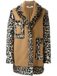 свободное пальто с леопардовым принтом Stella McCartney