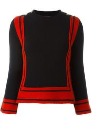 свитер с контрастными полосками   Alexander McQueen