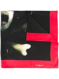 шарф с контрастной окантовкой  Givenchy