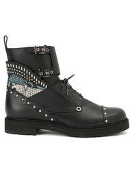 армейские ботинки с заклепками Fendi