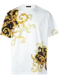 футболка с принтом барокко  Versace