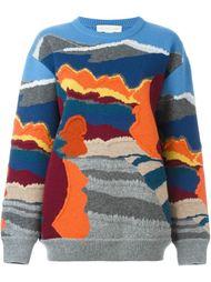 жаккардовый свитер в стиле колор-блок  Stella McCartney