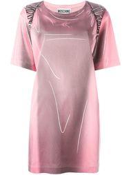 """платье с принтом рюкзака и эффектом """"тромплей"""" Moschino"""