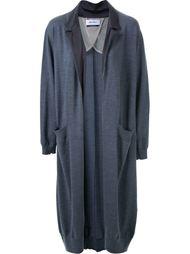 notched lapel cardi-coat Muveil