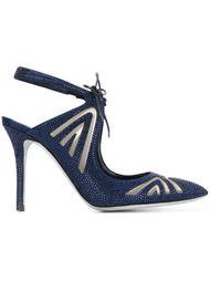 туфли-лодочки с украшением из кристаллов Swarovski René Caovilla