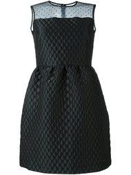 приталенное платье с прозрачной панелью Red Valentino