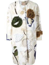пальто с аппликациями Erika Cavallini