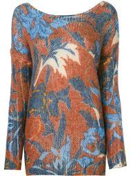 свитер с лиственным принтом Twin-Set