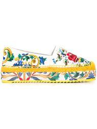 эспадрильи на платформе с принтом Majolica Dolce & Gabbana