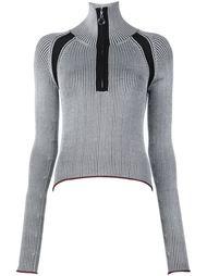 свитер в рубчик с высокой горловиной Edun