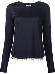 блузка с необработанными деталями на подоле Dorothee Schumacher