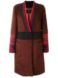 пальто с поясом  Etro