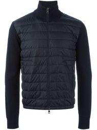 куртка с вязаными рукавами  Moncler