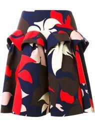 юбка с цветочным принтом   Delpozo