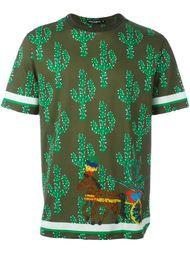 футболка с принтом кактусов  Dolce & Gabbana