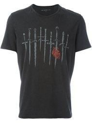 футболка с принтом мечей John Varvatos