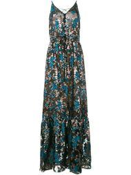 вечернее платье с цветочной вышивкой Lanvin