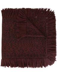 шарф с леопардовым принтом  Alexander McQueen