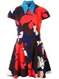 расклешенное платье с цветочным принтом   Delpozo
