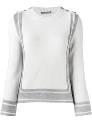 свитер с декоративными пуговицами Alexander McQueen