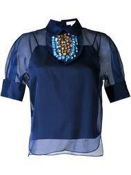 декорированная  блузка  Delpozo