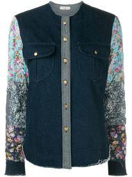 джинсовая рубашка с контрастными рукавами Natasha Zinko