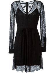 прозрачное кружевное платье  McQ Alexander McQueen