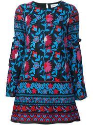 платье с цветочной вышивкой  Tanya Taylor