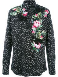 рубашка с принтом роз  Dolce & Gabbana