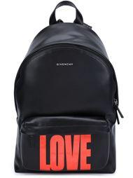 рюкзак с принтом 'Love' Givenchy
