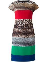 платье шифт с полосатым принтом Boutique Moschino