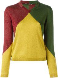 свитер в стиле колор-блок  Marco De Vincenzo