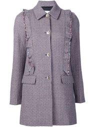 твидовое пальто с оборками Sonia Rykiel