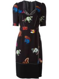 приталенное платье с принтом животных Marco De Vincenzo