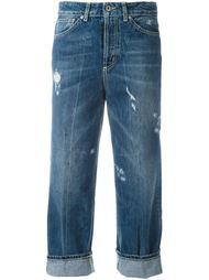 укороченные брюки с потертой отделкой Dondup