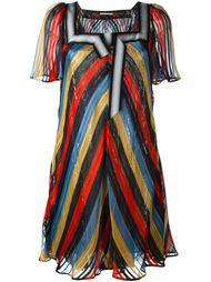 полосатое платье с пайетками Marco De Vincenzo