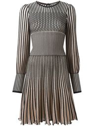 трикотажное платье в полоску Alexander McQueen