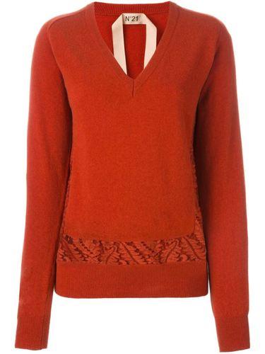 свитер c V-образным вырезом  Nº21