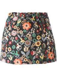 юбка мини с цветочным узором  Red Valentino
