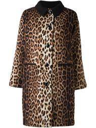 пальто с леопардовым принтом Boutique Moschino