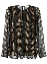 блузка в горошек Michael Michael Kors