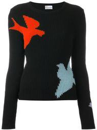 свитер с принтом птиц Red Valentino